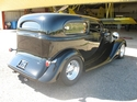1934 Chevy sedan delivery Outlaw body stock frame Buz Tapply/CO owner