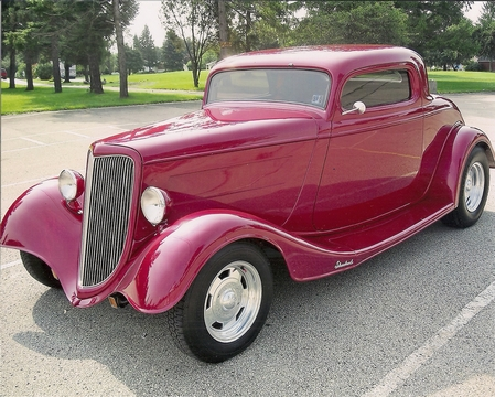 1934 Ford 3 window coupe Outlaw body & chassis - Bobby Rumble PA owner