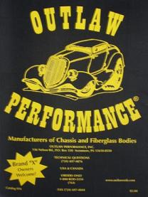 Outlaw body/chassis/parts catalog