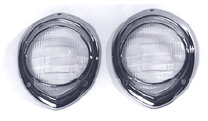 1941-42 Willys Headlight Lens & Bezel