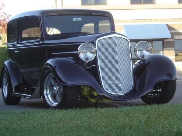 1935 Chevy standard sedan (steel body) on Outlaw chassis
