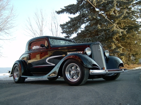 1935 Chevy 3 window coupe Outlaw body 39,000.00