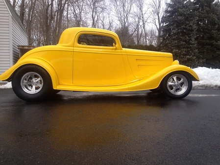 34 Ford 3 window cpe body chassis package as detailed 23,445.00