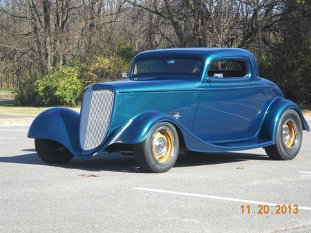 1934 Ford 3 window coupe Outlaw body/frame - Tom Ryding - Owner -