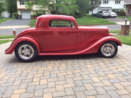 1934-35 Chevy 3 window coupe body/chassis Owner George Erlich