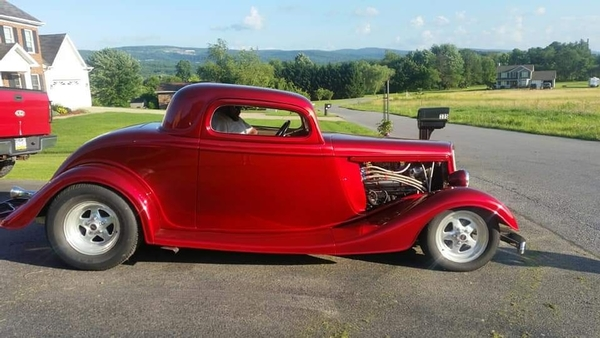 CANDY APPLE RED OUTLAW 1933 FORD 4-SALE BY OWNER 45,000.00