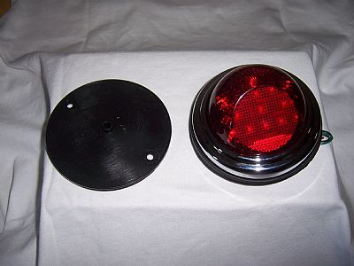 """1937-42 Willys LED 4 1/4"""" Taillights Stainless steel housing/hardware STOP LIGHT - TURNSIGNALS"""