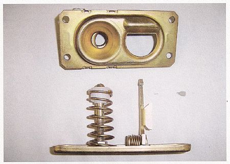 Hood latch Willys & other models w/standard lift up hood