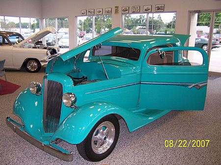 1934 Chevy coupe - Dennis Martin - owner