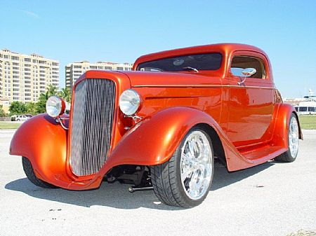 1934 Chevy coupe Jim Acton, Fl owner