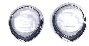 1940 Willys Headlight Lens & Bezel